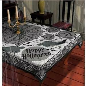 Other - Black Lace Halloween Tablecloth